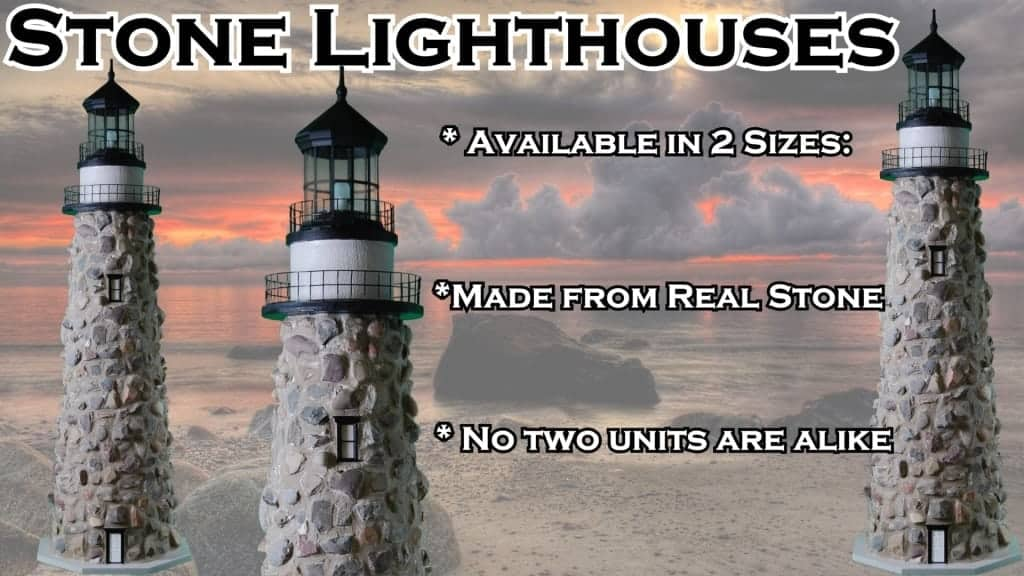Stone Lawn Lighthouses - for Yard or Garden