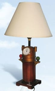 Lighthouse Lamps Binnacle Clock Lamp: LM-181