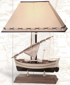 Lighthouse Lamps - Sailboat Lamp: LM-272