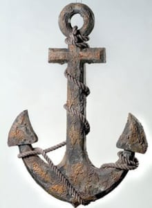 Antique Wooden Anchor - MP-678