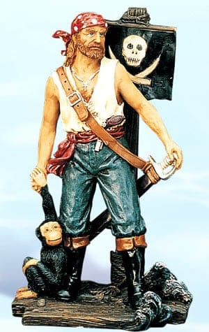 Pirate Figurines - Pirate Standing with Monkey PS-487