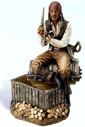 Pirate Figurines - Pirate Sitting on Treasure PS-529