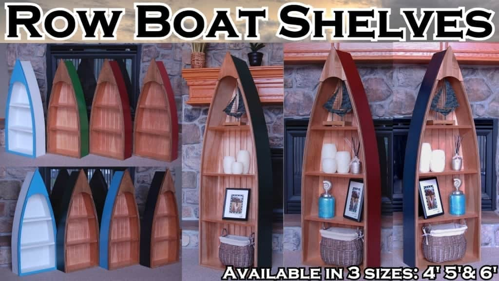 Row Boat Shelves Nautical Furniture