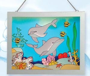 Stain Glass Nautical Scene SG-1574