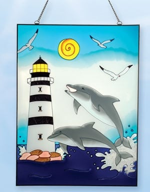 Stain Glass Lighthouses SG-1575