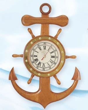 Decorative Anchors - Anchor Clock TK-292