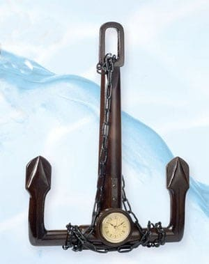 Decorative Anchors - Anchor Clock TK-309
