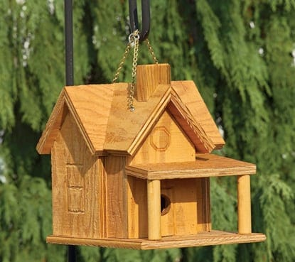 Standard Birdhouses - Porch and Chimney Birdhouse TO-3004