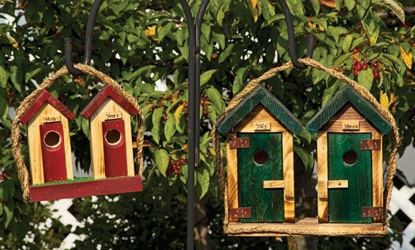 Decorative Birdhouses Small His/Her Outhouse Birdhouse TO-3012