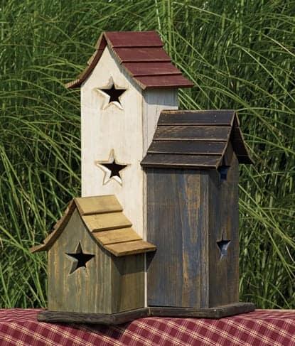Primitive Birdhouses - Primitive Trio Birdhouse TO-3025
