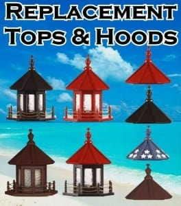 Replacment Tops and Hoods for our Wooden Lighthouses