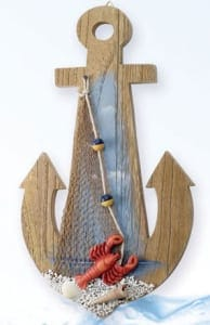 Decorative Anchor With Lobster MP-662