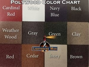 Polywood Lighthouse Color Chart