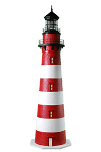 Assateague Lighthouse - Deluxe Stucco