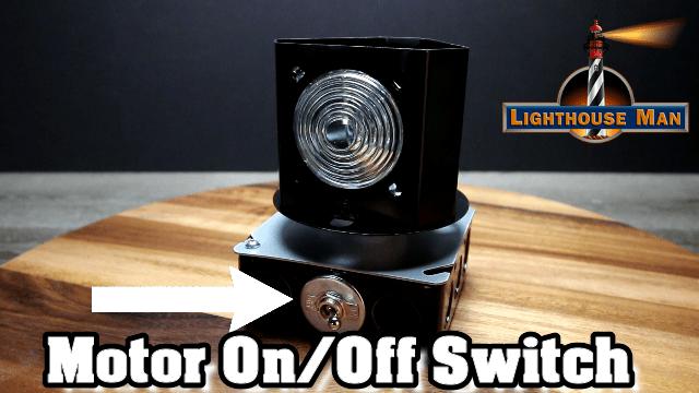 Deluxe Revolving Beacon Motor Switch