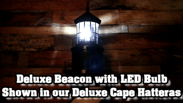 Deluxe Lawn Lighthouse revolving beacon shown in Lighthouse