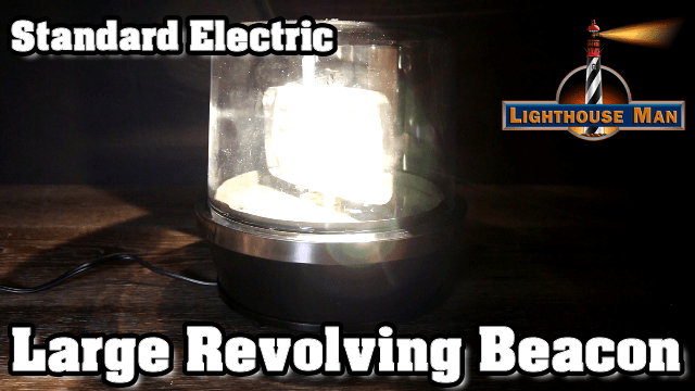 Electric Yard Lighthouse Revolving Beacon