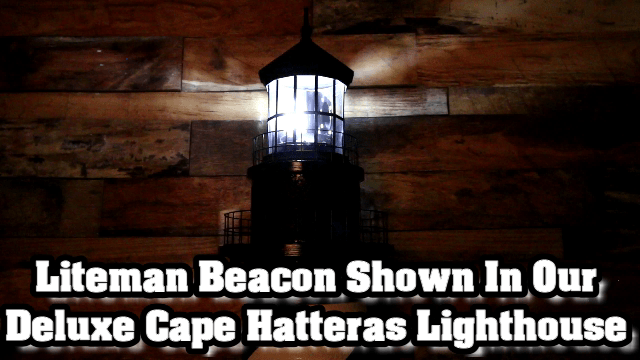 Liteman Authentic Rotating Beacon Shown in Lighthouse