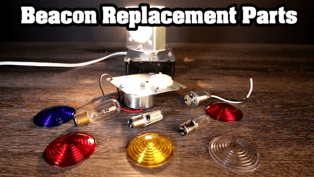 Lawn Lighthouse Revolving Beacon Replacement Parts