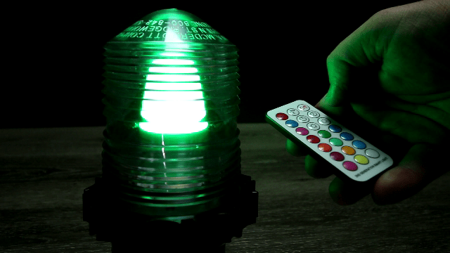 Color Changing Fresnel Lens Green Light