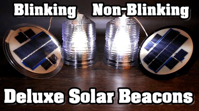 Deluxe Solar Lighthouse Beacon