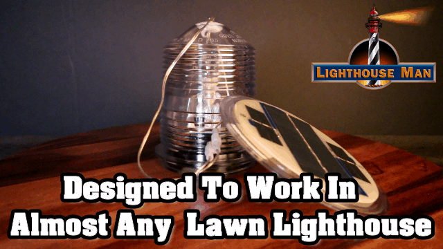Deluxe Solar Beacon for Lawn Lighthouses