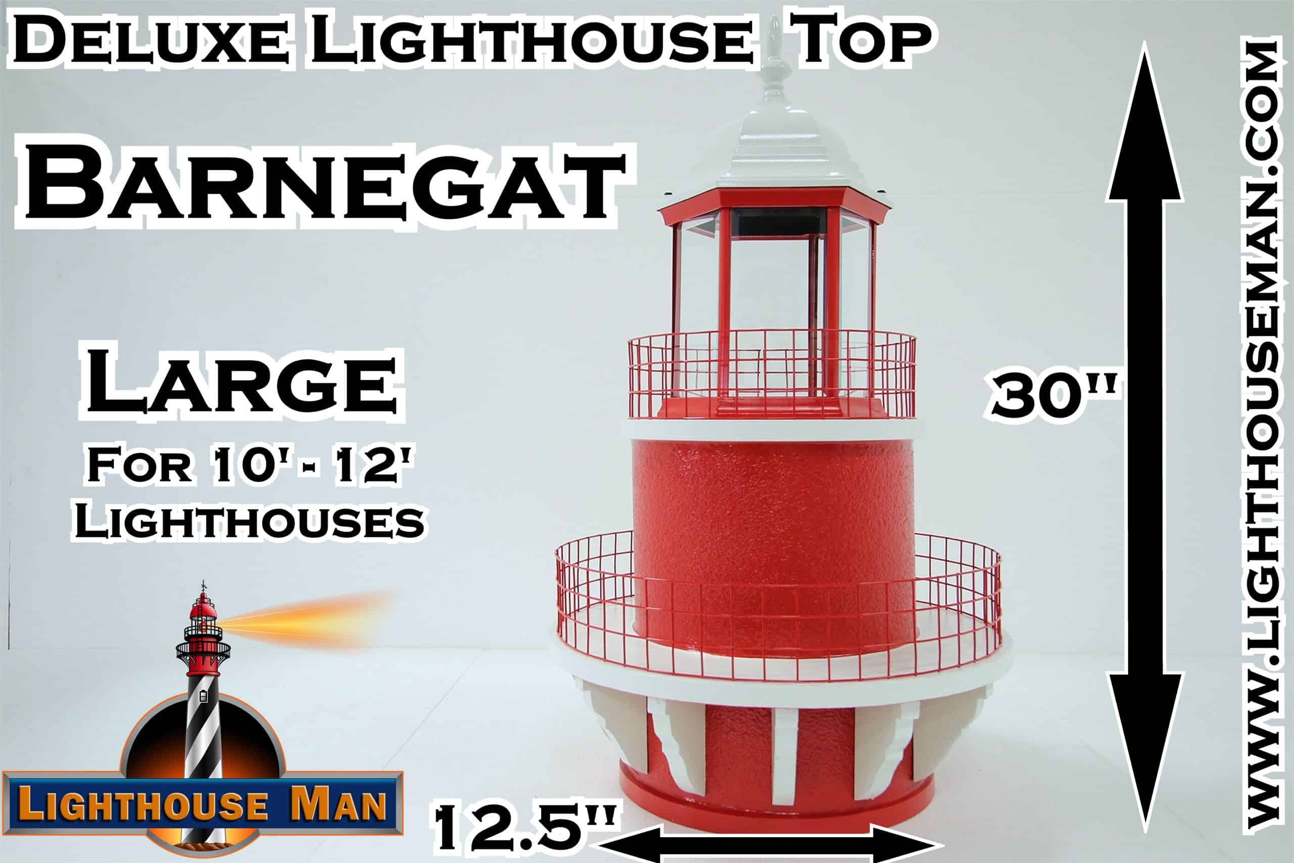 Deluxe Large Barnegat Lighthouse Top