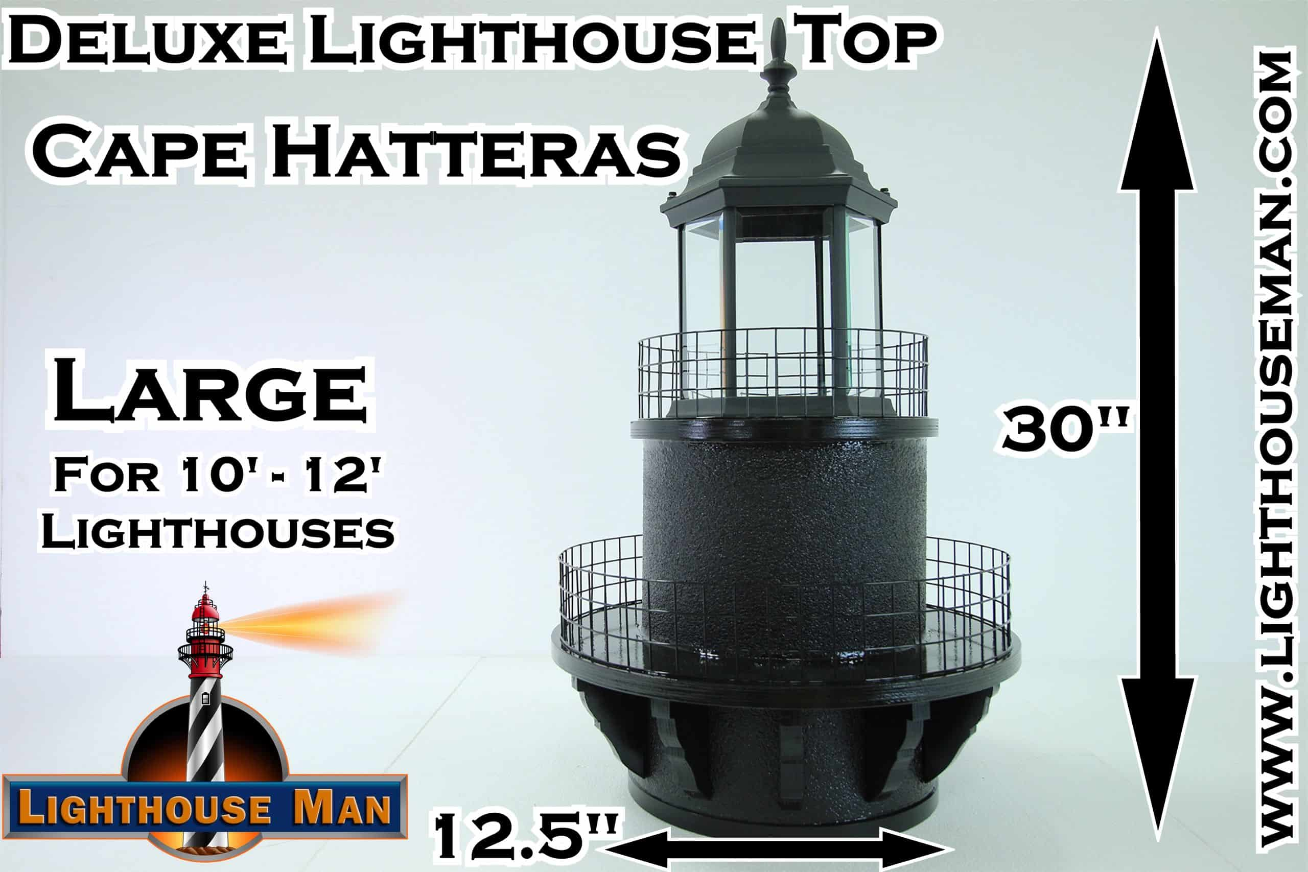Deluxe Large Cape Hatteras Lighthouse Top