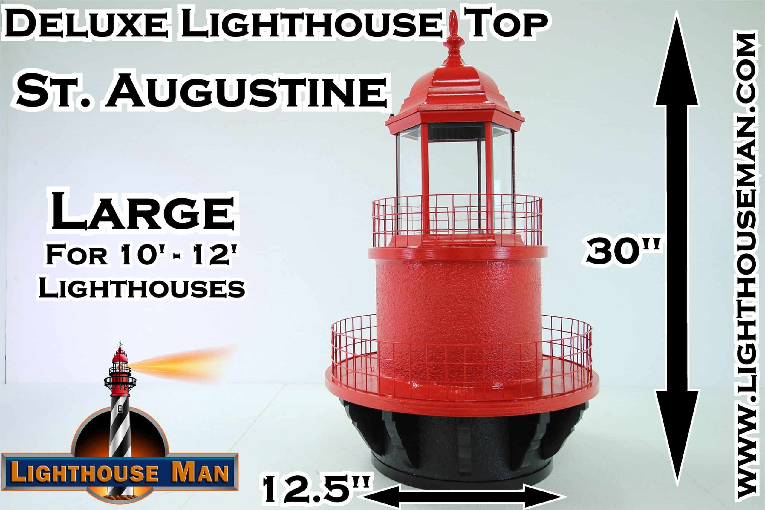 Deluxe Large St Augustine Lighthouse Top