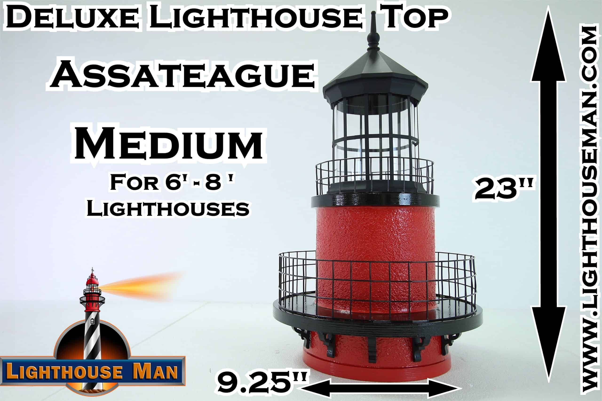 Deluxe Medium Fenwick Lighthouse Top