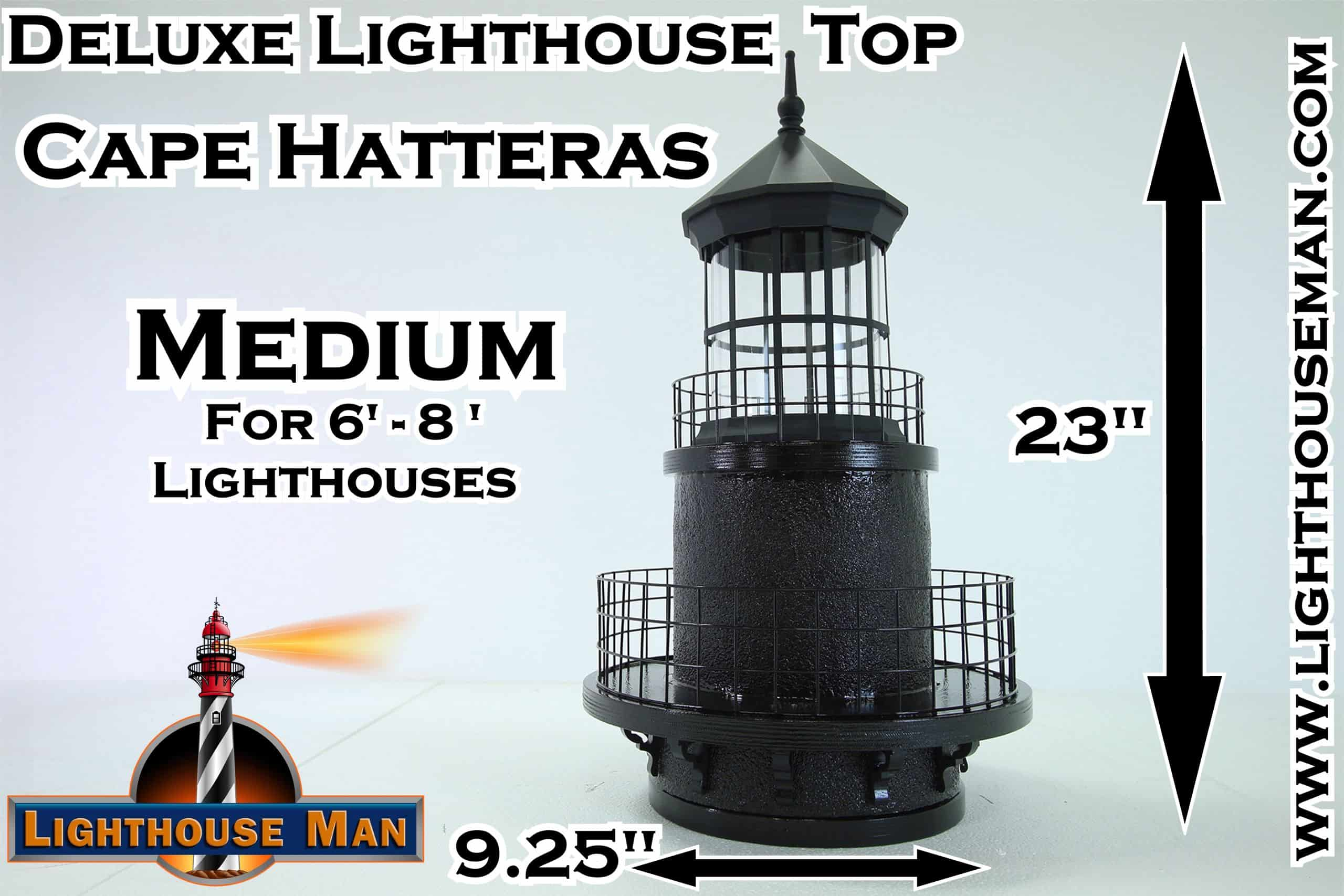 Deluxe Medium Cape Hatteras Lighthouse Top