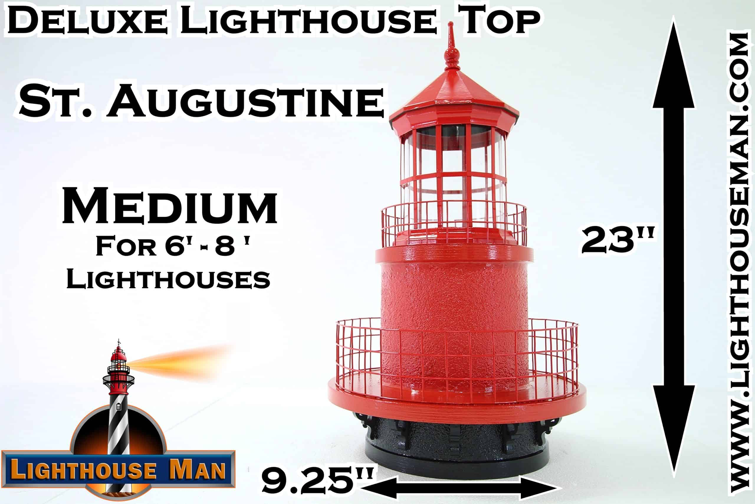 Deluxe Medium St Augustine Lighthouse Top