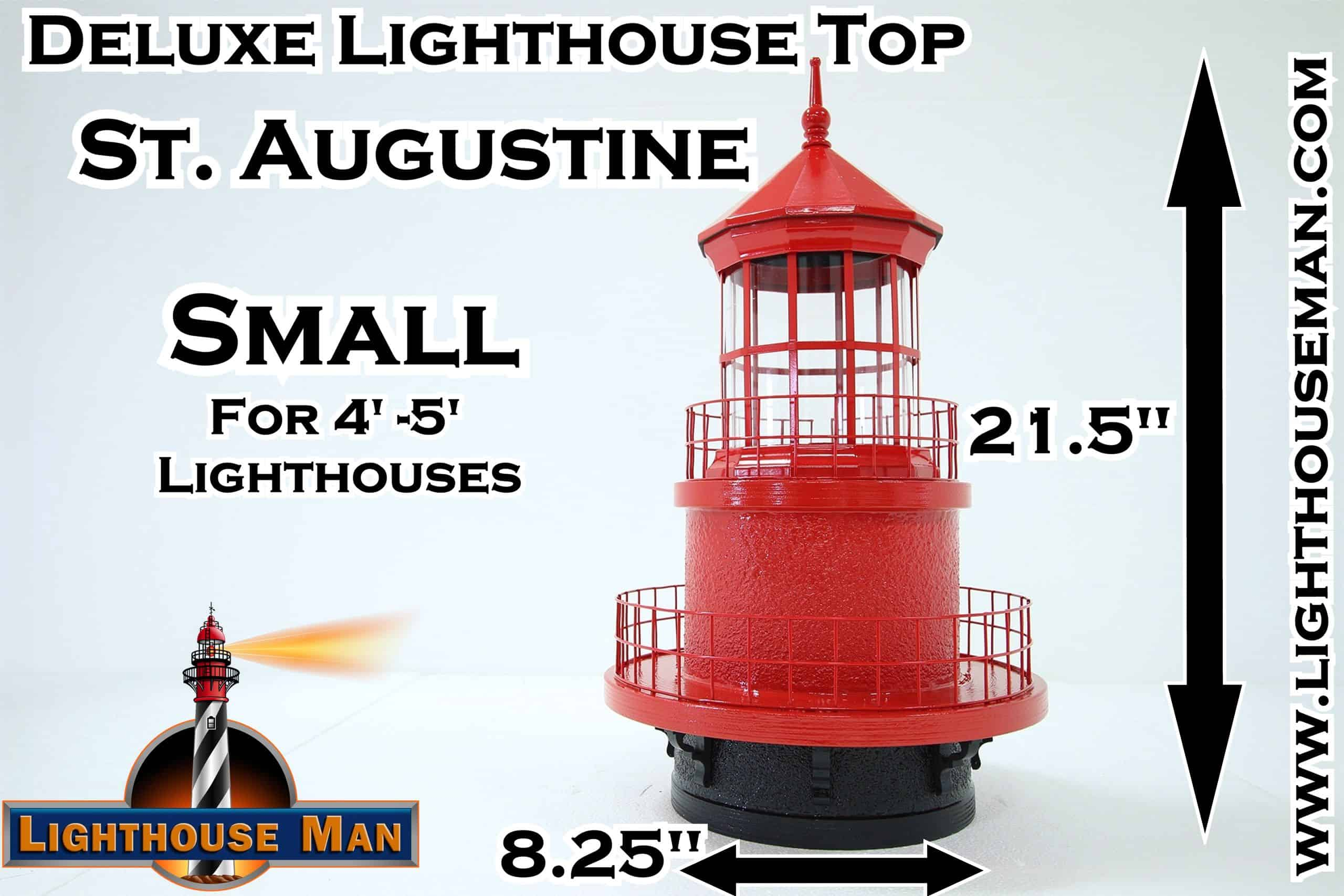 Deluxe Small St Augustine Lighthouse Top
