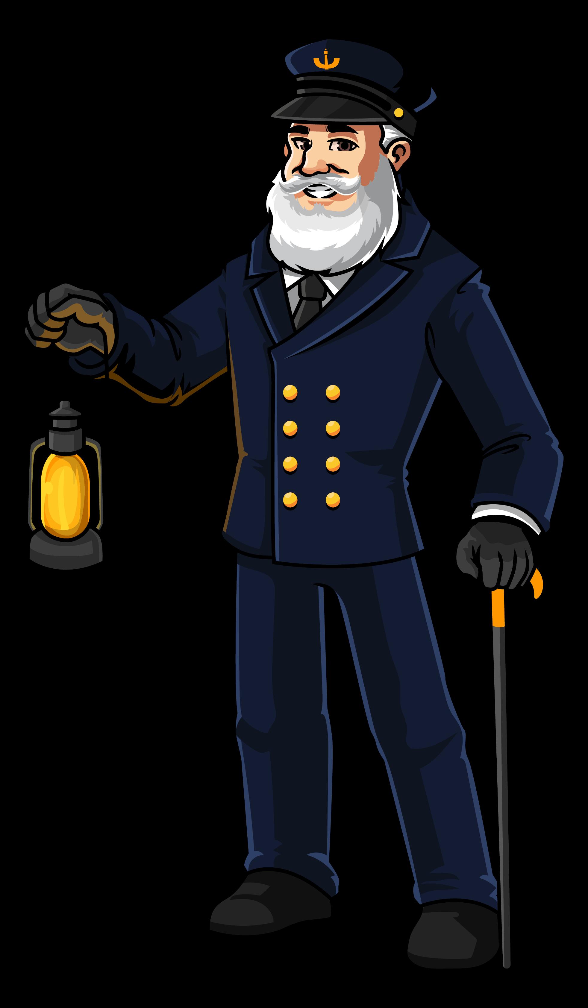 Mascot Lighthouse Man Logo Standing